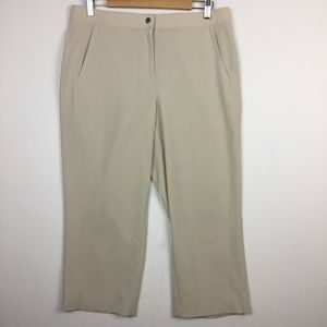 Chico's Cream Cropped Pants Size 1.5